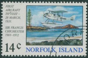 Norfolk Island 1974 SG151 14c First Aircraft Landing FU