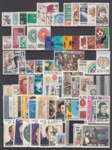 Mexico Sc C302/C517 MNH. 1965-1975 Air Mail issues, 95 diff, all cplt sets, VF