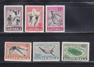 Guatemala C171-C176 Set MNH Sports (B)