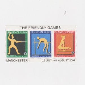 PABAY, British Local - 2002 - Commonwealth Games - Perf MNH 3v Souv Sheet