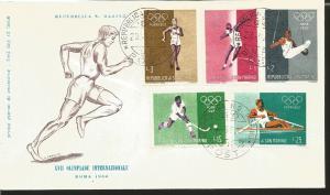 O) 1960 SAN MARINO, OLYMPIC GAMES-ROME, WALKING-SHOT PUT-GYMNASTICS-HOCKEY-ROWIN