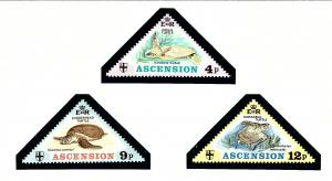 Ascension Is 170-72 MNH 1973 Turtles