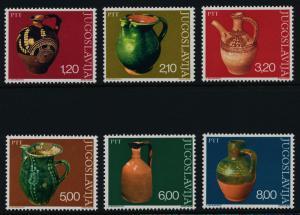 Yugoslavia 1302-7 MNH Art, Water Pitchers