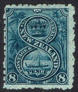 NEW ZEALAND 1902 WAR CANOE 8D WMK STAR NZ PERF 11