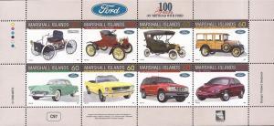 Marshall Islands - 1996 Ford Motors Centenary - 8 Stamp Sheet #611