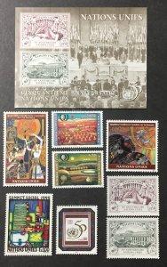 U.N. Geneva 1995, Stamps from Souvenir Folder, CV $26.75, 3 Pics.
