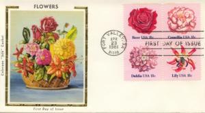 1981 Flowers Block of 4  (Scott 1876-79a) Colorano