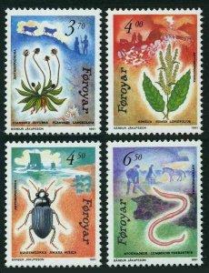 Faroe 216-219,MNH.Michel 211-214. Plantago lanceolata,Rumex longifolius,Amara