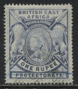 British East Africa QV 1898 1 rupee used