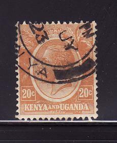 Kenya, Uganda, Tanzania 25 U King George V (B)