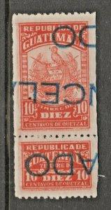 Guatemala Revenue Fiscal stamp- 3-2-
