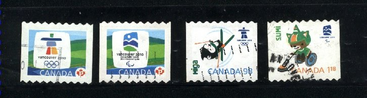 Canada #2307A, 2307B, 2308, 2309  used  VF 2009 PD