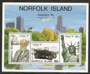 Norfolk Island 384a 1986 AMERIPEX s.s. MNH