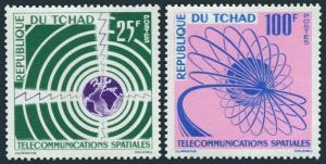 Chad 88-89,MNH.Michel 97-98. Space Communications,1963.Waves,Orbit patterns.