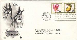 1984, American Orchids-Wild Pink, Lady's Slipper, Artcraft/PCS, FDC (E8536)