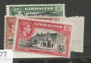 Gibraltar SG 127a-129a MNH (5chx)