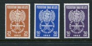 Malaysia #99-101 MNH