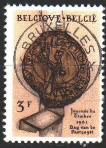 Belgium. 1961. 1235. Day of seal, imprint of the seal. USED.