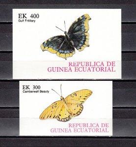 Eq. Guinea, Mi Cat. 1204, BL266 A-B. Butterflies on 2 s/sheets. ^