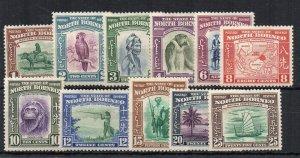 North Borneo 1939 values to 25c MH