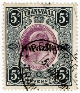 (I.B) Swaziland Revenue : Duty Stamp 5/- (1904)