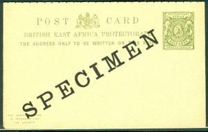 BRITISH EAST AFRICA 1896 H&G #9 ½+½ Anna 'SPECIMEN'