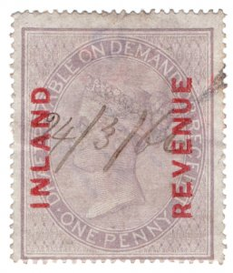 (I.B) QV Revenue : Inland Revenue 1d Lilac (SG F8)