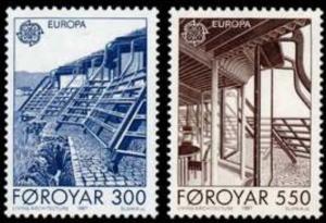 STAMP STATION PERTH Faroe Islands #156-157 Fa151-152 MNH CV$2.75
