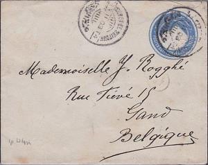 EGYPT 1904 1p envelope used Zeitoun to Belgium.............................53678