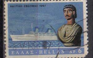GREECE, 1967, used 6d.  ?Australis? (liner) and figurehead