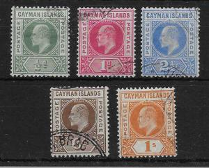 CAYMAN ISLANDS SG3/7 1902 DEFINITIVE SET USED