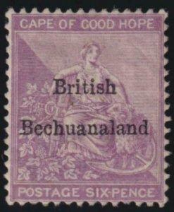 Bechuanaland 1885-1887 SC 8 MLH