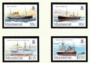 Montserrat 539-42 MNH 1984 Packet Boats