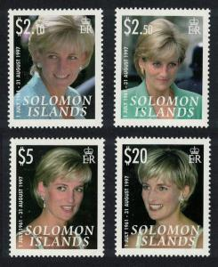 Solomon Is. Diana Princess of Wales 4v SG#1228-1231