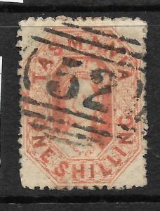 TASMANIA  1864-68  1/-    QV  FU   P12 1/2   SG 90