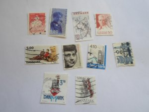 DENMARK STAMPS, LOT OF 10 STAMPS # 6