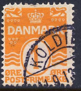 Denmark 85, 1o Wavy lines. Used. (259)