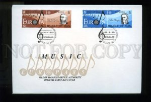 161432 ISLE OF MAN 1985 Music FDC cover