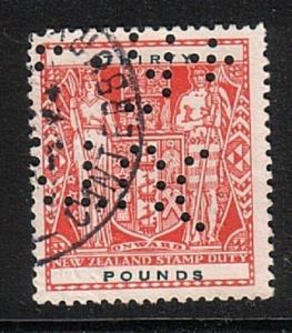 NEW ZEALAND ARMS STAMP DUTY £30 used.......................................17499