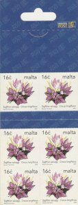 Malta Booklet Definitive Flowers 6 x 16c Stamp Stamp Booklet Unmounted Mint 2003