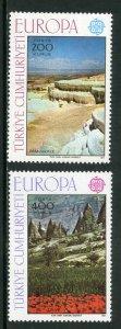 TURKEY 2051-2 MNH SCV $16.00 BIN $8.00 EUROPA