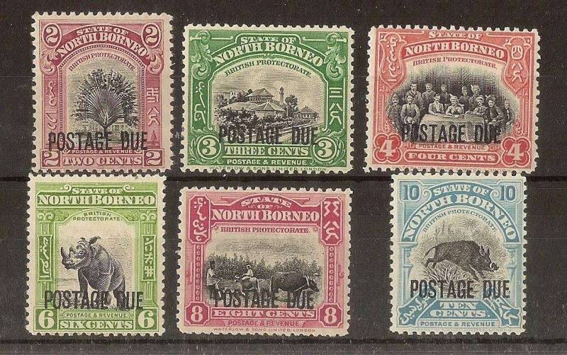 North Borneo 1930-38 Dues Mint Cat£104