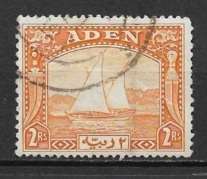 1937 Aden #10  2r Dhow used