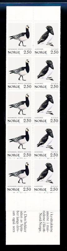 [59893] Norway 1983 Birds Vögel Oiseaux Ucelli Booklet MNH