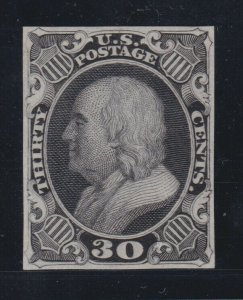 US 38TC3a 30c Franklin Trial Color Proof on India Paper SCV $1400 (002)