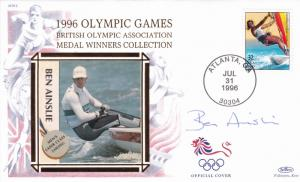1996 Olympic Games Medal Winners Collection Ben Ainslie Cover Signed