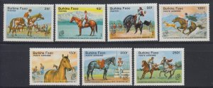 1985 Burkina Faso 1035-1041 Horses 11,00 €