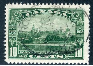 215 Scott - 10c - Used - Windsor Castle - CDS Brockville, Dec 12, 35