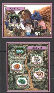 ST823 2016 Guinea Bissau Minerals Natur Geologie KB + Bl MNH Briefmarken