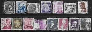 United States  Scott 1282-8, 1289-95  MNH  Post Office fresh